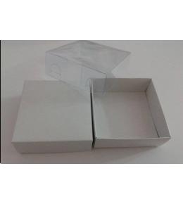 Asetat Kapaklı Beyaz Kutu 8-8-3 Ölçülerinde
