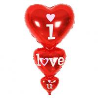 Folyo Balon 3 lü Kalp I Love You
